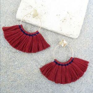 Jewelry - Burgundy Tassel Earrings
